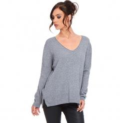 """Sweter """"Talia"""" w kolorze szarym. Szare swetry damskie Cosy Winter, ze splotem. W wyprzedaży za 181.95 zł."""