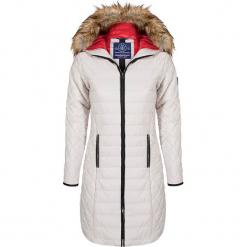 Płaszcz zimowy w kolorze białym. Białe płaszcze damskie Giorgio di Mare, na zimę, z materiału. W wyprzedaży za 347.95 zł.