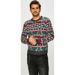 Only & Sons - Sweter Xmas. Czarne swetry przez głowę męskie Only & Sons, z dzianiny, z okrągłym kołnierzem. Za 129.90 zł.
