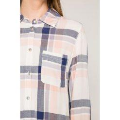 Roxy - Koszula. Szare koszule damskie Roxy, w kratkę, z bawełny, casualowe, z klasycznym kołnierzykiem, z długim rękawem. W wyprzedaży za 179.90 zł.
