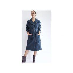 Wełniany płaszcz SCANDINAVIAN DREAM DEEP NAVY WOOL. Niebieskie płaszcze damskie True color by ann, melanż, z wełny, klasyczne. Za 1,290.00 zł.