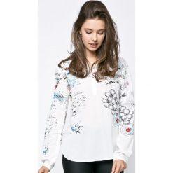 Desigual - Koszula Bluslisa. Szare koszule damskie Desigual, z tkaniny, casualowe, z długim rękawem. W wyprzedaży za 259.90 zł.