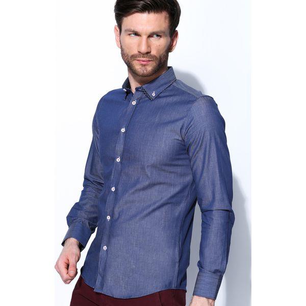63a1166c3a19e1 Granatowa Koszula Double Collar - Koszule męskie marki Born2be. Za ...