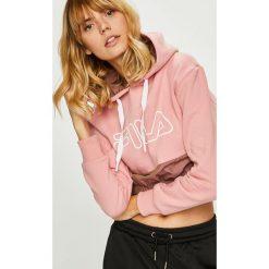 Fila - Bluza. Różowe bluzy damskie Fila, z nadrukiem, z bawełny. Za 369.90 zł.