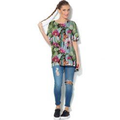Colour Pleasure Koszulka CP-033  8 zielono-błękitno-malinowa  r. uniwersalny. Bluzki damskie Colour Pleasure. Za 76.57 zł.
