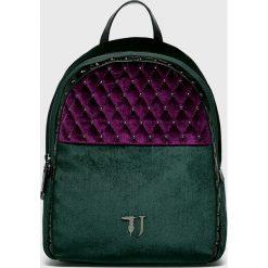 Trussardi Jeans - Plecak. Czarne plecaki damskie TRUSSARDI JEANS, z jeansu. Za 579.90 zł.