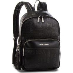 Plecak VERSACE JEANS - E1YSBB26 899. Czarne plecaki damskie Versace Jeans, z jeansu, eleganckie. Za 729.00 zł.