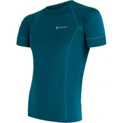 Sensor Koszulka Męska Coolmax Fresh Blue  M. Niebieskie koszulki sportowe męskie Sensor, z krótkim rękawem. W wyprzedaży za 119.00 zł.