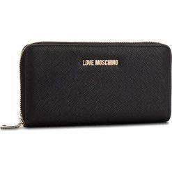 Duży Portfel Damski LOVE MOSCHINO - JC5552PP16LQ0000  Nero. Czarne portfele damskie Love Moschino, ze skóry ekologicznej. Za 369.00 zł.