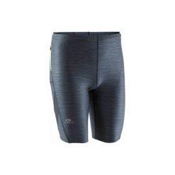 Legginsy do biegania krótkie RUN DRY+ męskie. Niebieskie legginsy sportowe męskie KALENJI, z elastanu. Za 39.99 zł.