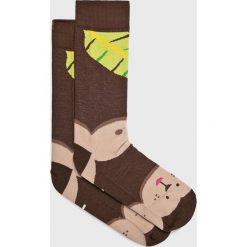 Nanushki - Skarpety Little Monkey. Szare skarpety męskie Nanushki, z bawełny. Za 24.90 zł.