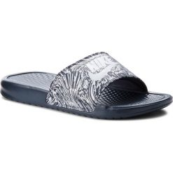 Klapki NIKE - Benassi Jdi Print 631261 403 Obsidian/Pure Platinum. Niebieskie klapki damskie Nike, z materiału. Za 129.00 zł.