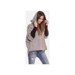 Ciepła szara bluza kangurka damska z kapturem. Szare bluzy damskie Bien fashion, z bawełny. Za 169.00 zł.