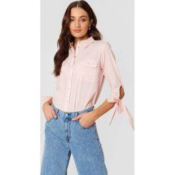 Rut&Circle Koszula z kieszonkami Nicole - Pink. Różowe koszule damskie Rut&Circle, z długim rękawem. Za 121.95 zł.