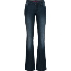 Dżinsy BOOTCUT bonprix ciemny denim. Niebieskie jeansy damskie bonprix. Za 89.99 zł.