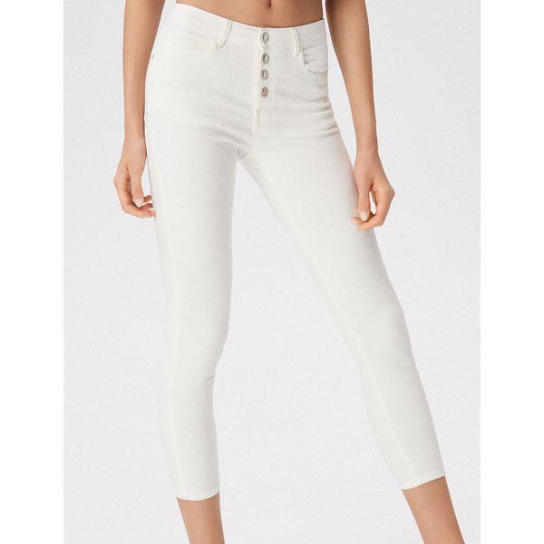 Dopasowane spodnie Biały