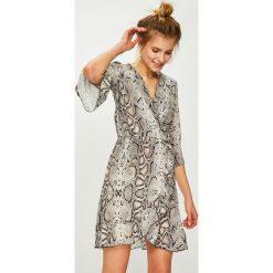 Answear - Sukienka. Szare sukienki damskie ANSWEAR, z materiału, casualowe. Za 149.90 zł.