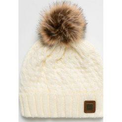 Roxy - Czapka. Szare czapki i kapelusze damskie Roxy, z dzianiny. W wyprzedaży za 99.90 zł.