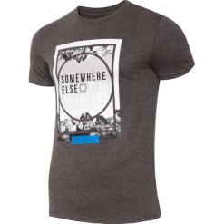 T-shirt męski TSM011 - ciemny szary melanż. T-shirty męskie marki Giacomo Conti. W wyprzedaży za 44.99 zł.