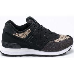 New Balance - Buty WL574FAA. Czarne obuwie sportowe damskie New Balance, z gumy. W wyprzedaży za 269.90 zł.