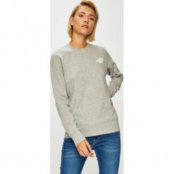 New Balance - Bluza. Szare bluzy damskie New Balance, z nadrukiem, z bawełny. Za 199.90 zł.