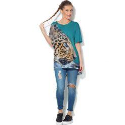 Colour Pleasure Koszulka CP-033  132 turkusowa r. uniwersalny. T-shirty damskie Colour Pleasure. Za 76.57 zł.