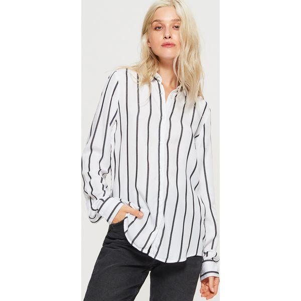 0b8d4d6f Biały Damskie Koszule Koszula Pasy Marki Pionowe Cropp W zHgf6qvxwA