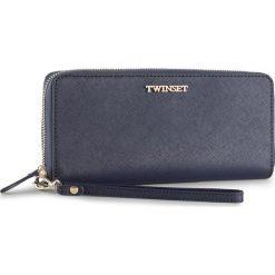 Duży Portfel Damski TWINSET - Portafoglio AS8PGS Blu Scuro 0058S. Niebieskie portfele damskie Twinset, ze skóry. W wyprzedaży za 429.00 zł.
