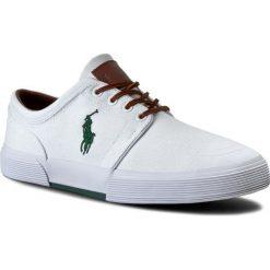 Tenisówki POLO RALPH LAUREN - Faxon Low-Ne A85 Y2164 C0225 A1000 White 816176909110. Białe trampki męskie Polo Ralph Lauren, z materiału. W wyprzedaży za 319.00 zł.
