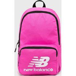 New Balance - Plecak. Różowe plecaki damskie New Balance, z materiału. W wyprzedaży za 84.90 zł.