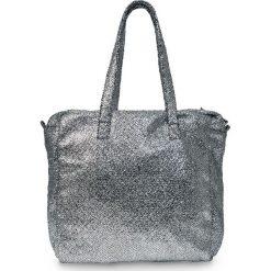 Torba shopper metallic bonprix szaro-srebrny kolor. Szare torebki shopper damskie bonprix, ze skóry. Za 49.99 zł.