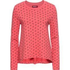 Bluza z nadrukiem, długi rękaw bonprix jasny koralowy z nadrukiem. Bluzy damskie marki KALENJI. Za 32.99 zł.