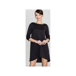 Sukienka K134 Czarny. Czarne sukienki damskie Lenitif, z dresówki. Za 139.00 zł.
