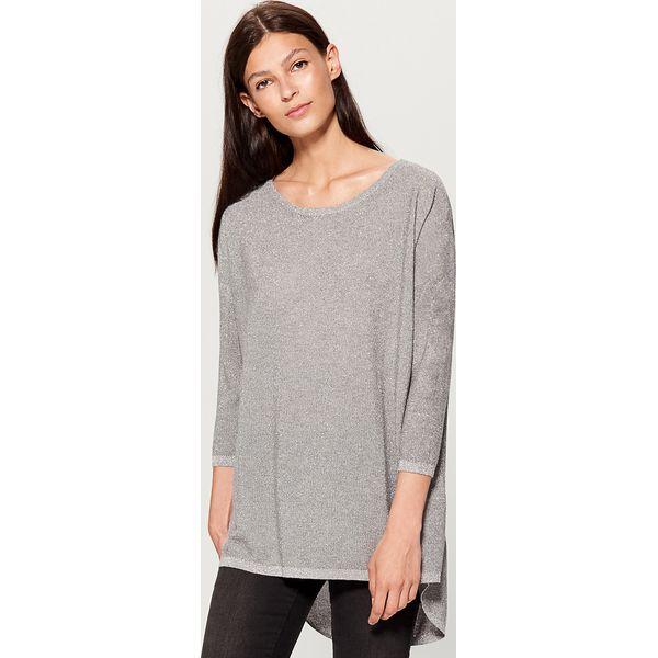 7ef3b4bba1d476 Asymetryczny sweter - Jasny szar - Swetry damskie Mohito. W ...