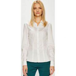 Guess Jeans - Koszula. Szare koszule damskie Guess Jeans, z aplikacjami, z bawełny, klasyczne, z klasycznym kołnierzykiem, z długim rękawem. Za 319.90 zł.