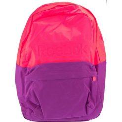 Plecak unisex różowo-fioletowy (AB1235). Czerwone plecaki damskie Reebok, sportowe. Za 78.12 zł.