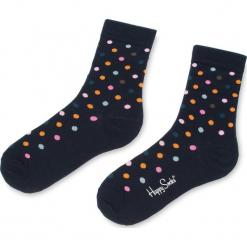 Skarpety Wysokie Unisex HAPPY SOCKS - DOT01-6003 Czarny Kolorowy. Czarne skarpety męskie Happy Socks, w kolorowe wzory, z bawełny. Za 34.90 zł.