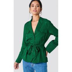 Samsoe & Samsoe Koszula z nadrukiem Karri - Green. Zielone koszule damskie Samsøe & Samsøe, z nadrukiem, z długim rękawem. Za 647.95 zł.