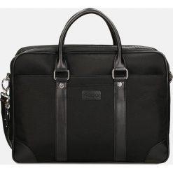 Czarna torba męska. Czarne torby na laptopa męskie Kazar, w paski, z tkaniny. Za 549.00 zł.