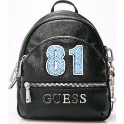Guess Jeans - Plecak. Czarne plecaki damskie Guess Jeans, z jeansu. Za 599.90 zł.