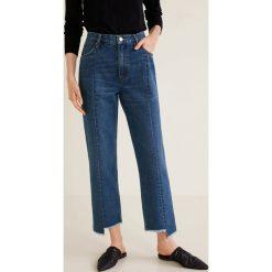 Mango - Jeansy Straight. Niebieskie jeansy damskie Mango. Za 139.90 zł.