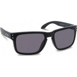 Okulary przeciwsłoneczne OAKLEY - Holbrook OO9102-01 Matte Black/Warm Grey. Czarne okulary przeciwsłoneczne m