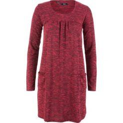 Sukienka shirtowa melanżowa, długi rękaw bonprix czerwono-czarny melanż. Czerwone sukienki damskie bonprix, melanż, z długim rękawem. Za 89.99 zł.
