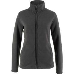Bluza rozpinana z polaru z wpuszczanymi kieszeniami bonprix szary melanż. Bluzy damskie marki KALENJI. Za 27.99 zł.