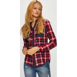 Desigual - Koszula. Szare koszule damskie Desigual, w kratkę, z bawełny, casualowe, z długim rękawem. Za 349.90 zł.