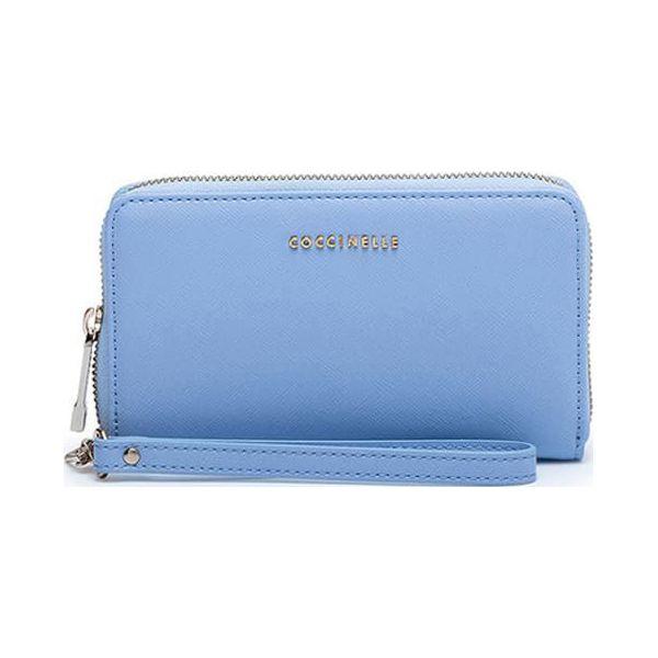 8f05b8f9af097 Skórzany portfel w kolorze jasnoniebieskim - (S)17 x (W)10 x (G)2 cm ...