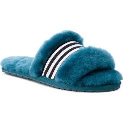 Kapcie EMU AUSTRALIA - Wrenlette W11634 Teal/Turquoise. Niebieskie kapcie damskie Emu Australia, ze skóry. Za 259.00 zł.