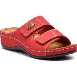 Klapki TAMARIS - 1-27510-22 Red 500. Czerwone klapki damskie Tamaris, ze skóry. Za 139.90 zł.