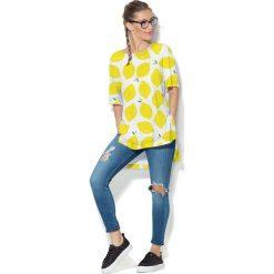 Colour Pleasure Koszulka CP-033  65 biało-żółta r. uniwersalny. Bluzki damskie marki Colour Pleasure. Za 76.57 zł.