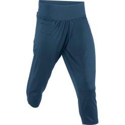 Spodnie sportowe haremki funkcyjne, dł. 7/8 bonprix ciemnoniebieski. Niebieskie spodnie dresowe damskie bonprix. Za 49.99 zł.